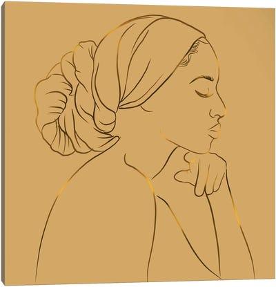 Meditation Gold Canvas Art Print
