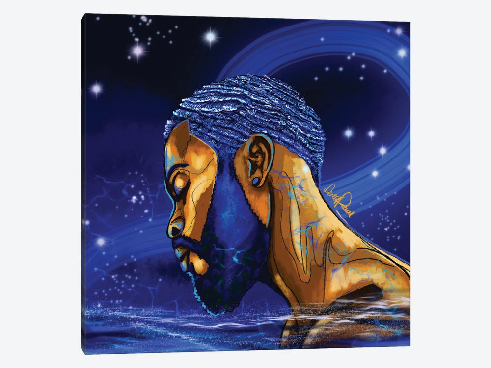 Man Of Water Elements Series by Poetically Illustrated 1-piece Canvas Art Print