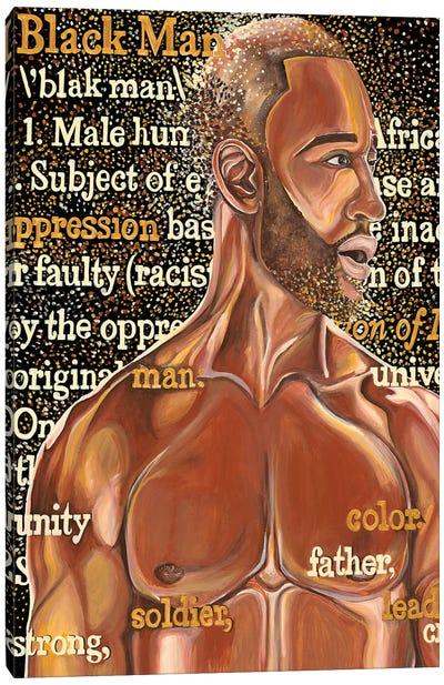 Black Man Canvas Art Print