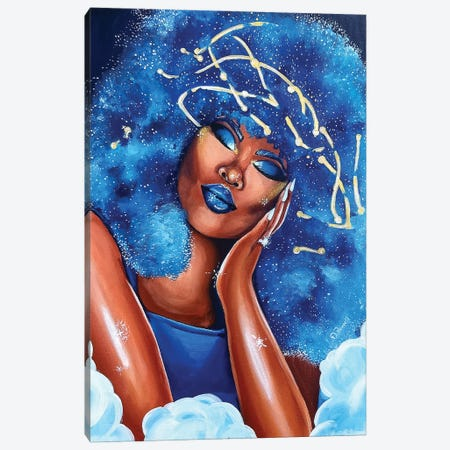 Blue Dreams Canvas Print #POI8} by Poetically Illustrated Canvas Art