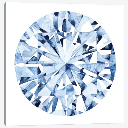 Diamond Drops I Canvas Print #POP1006} by Grace Popp Canvas Wall Art