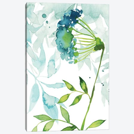 Flower & Leaf Layers I Canvas Print #POP1014} by Grace Popp Canvas Print