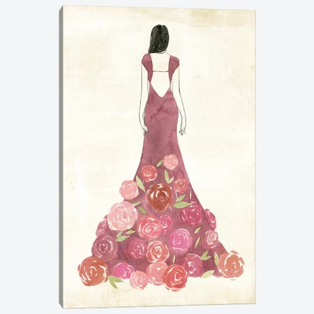 Garland Gown I Canvas Print #POP1016} by Grace Popp Canvas Print