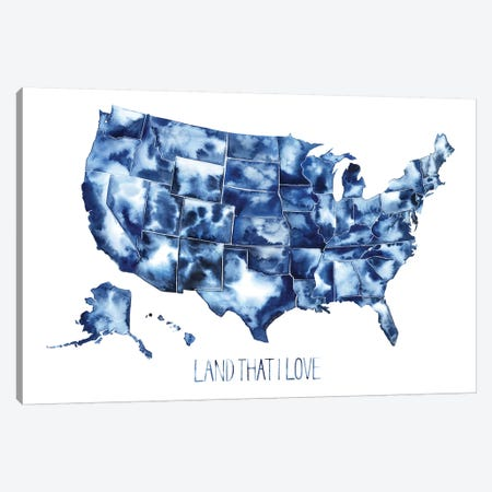 Land that I Love Canvas Print #POP1038} by Grace Popp Canvas Artwork