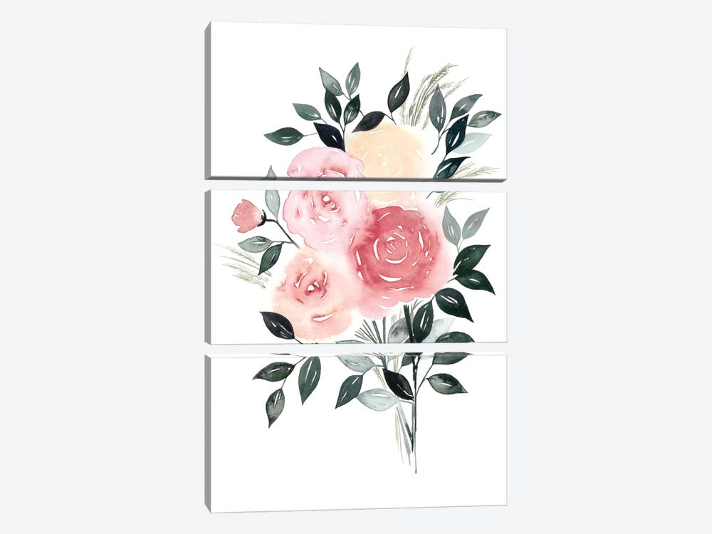 Rosewater I by Grace Popp 3-piece Canvas Artwork