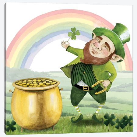 Leprechaun's Rainbow I Canvas Print #POP1041} by Grace Popp Canvas Print