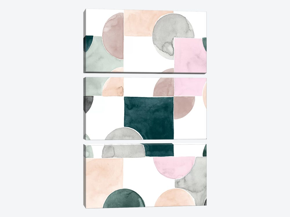 Muted Mystery I by Grace Popp 3-piece Canvas Artwork