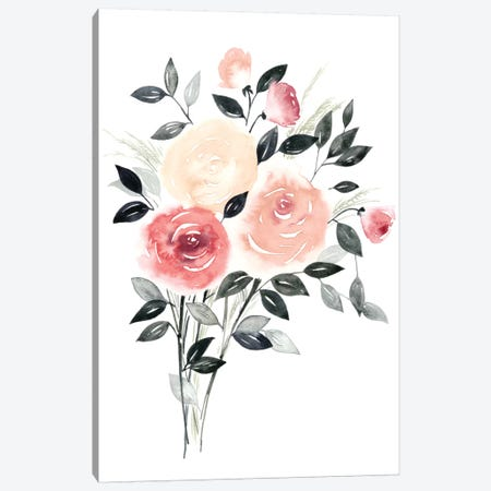 Rosewater II Canvas Print #POP104} by Grace Popp Canvas Wall Art