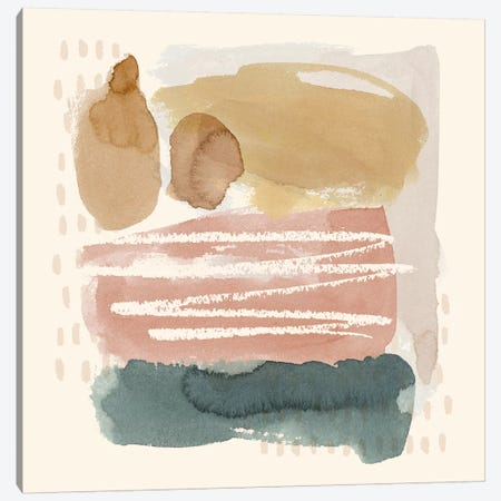 Ochre Echo I Canvas Print #POP1053} by Grace Popp Canvas Art