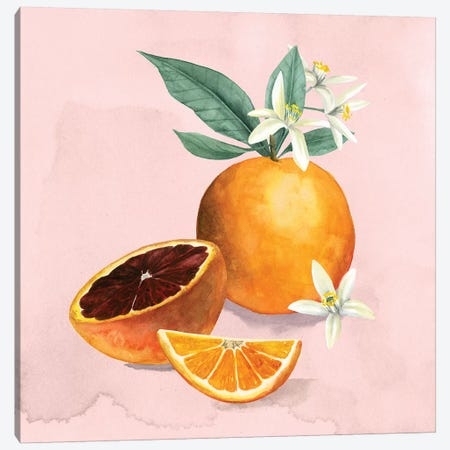 Orange Blossom I Canvas Print #POP1057} by Grace Popp Canvas Art Print