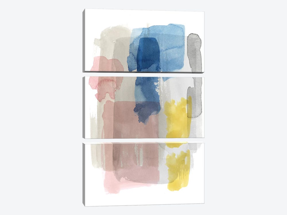 Puddle Pastel II by Grace Popp 3-piece Canvas Art Print
