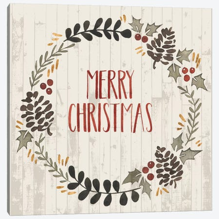 Rustic Christmas II Canvas Print #POP106} by Grace Popp Canvas Artwork