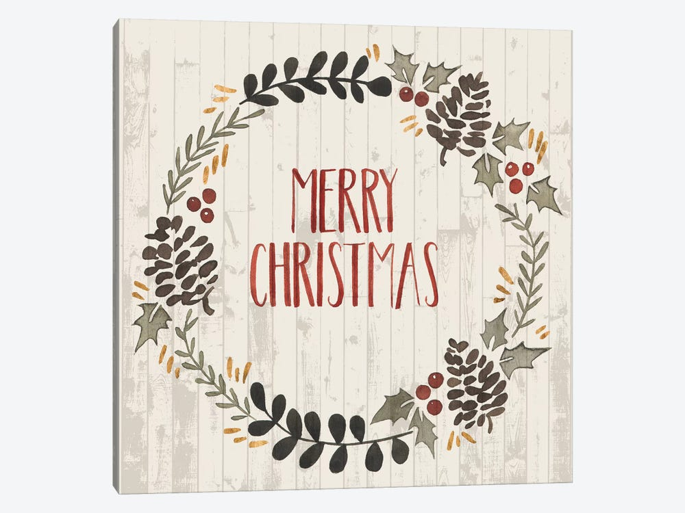 Rustic Christmas II by Grace Popp 1-piece Art Print