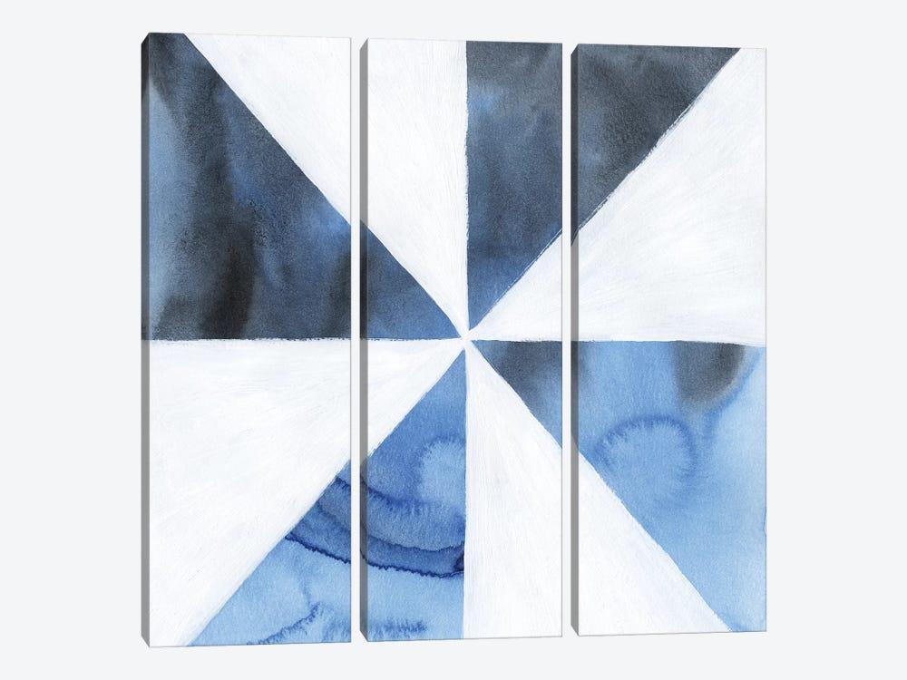 Blue Screen I by Grace Popp 3-piece Canvas Wall Art