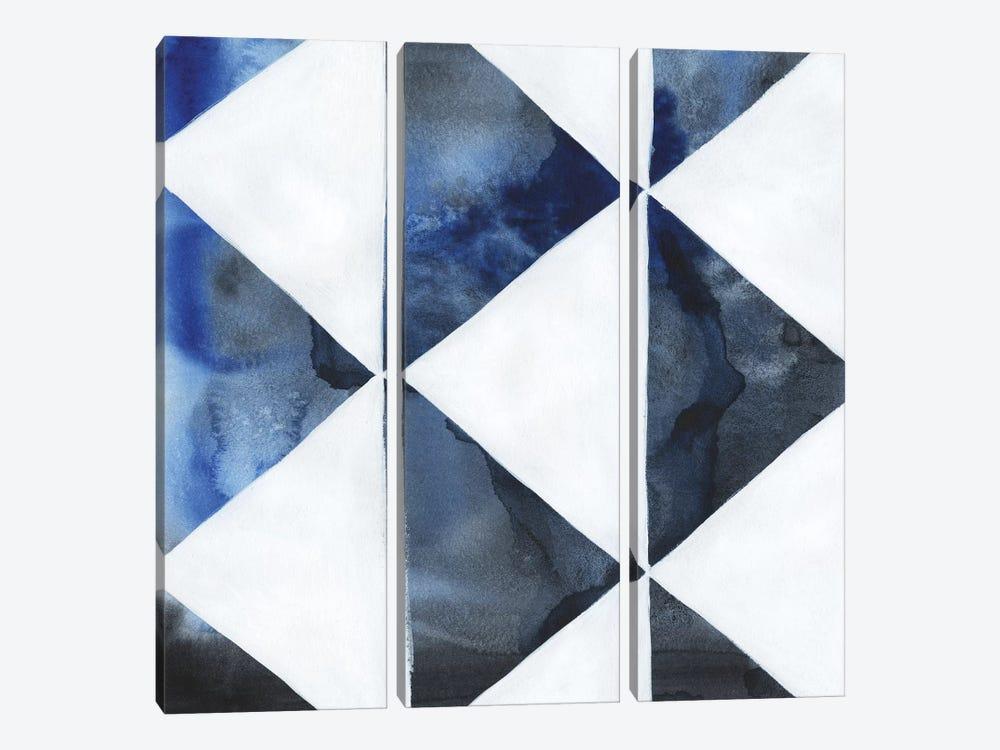 Blue Screen III by Grace Popp 3-piece Canvas Art