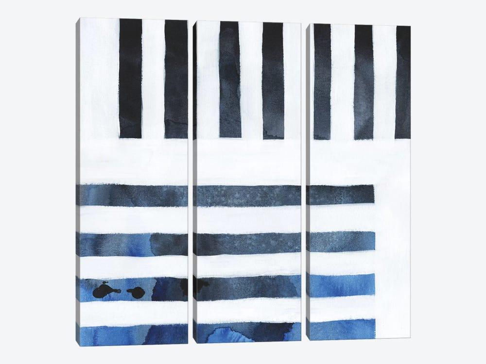 Blue Screen IV by Grace Popp 3-piece Canvas Wall Art