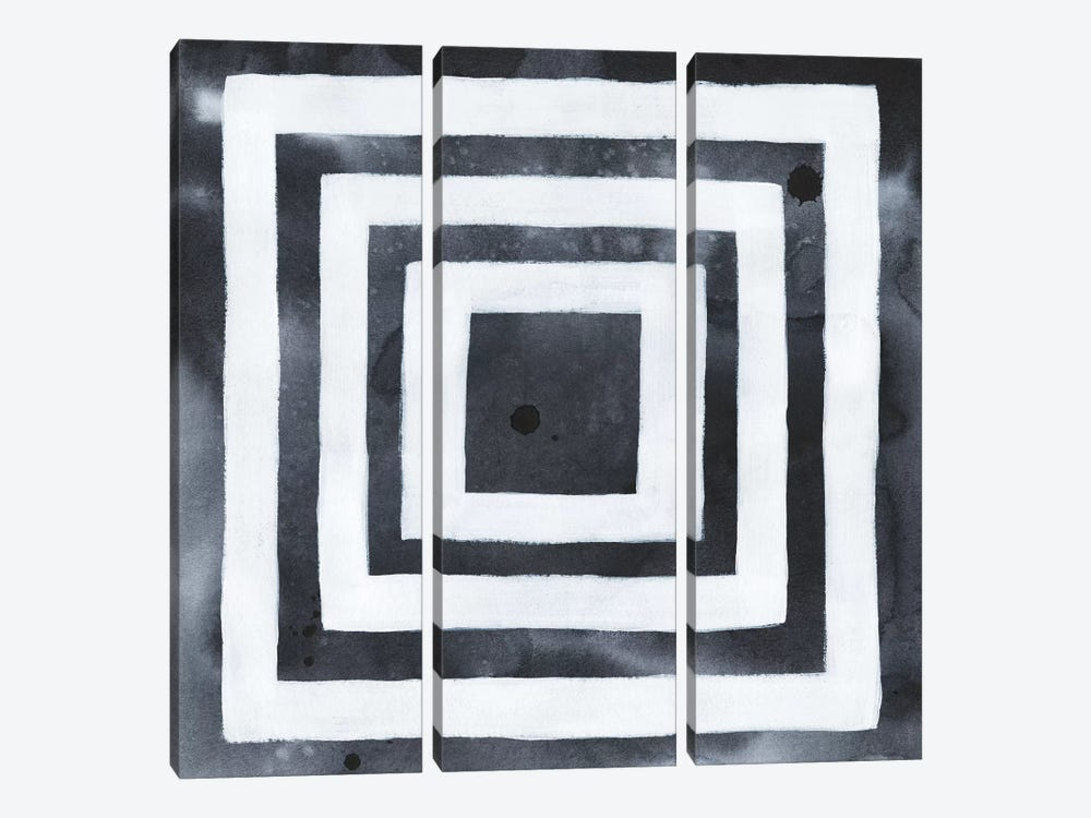Blue Screen V by Grace Popp 3-piece Canvas Print
