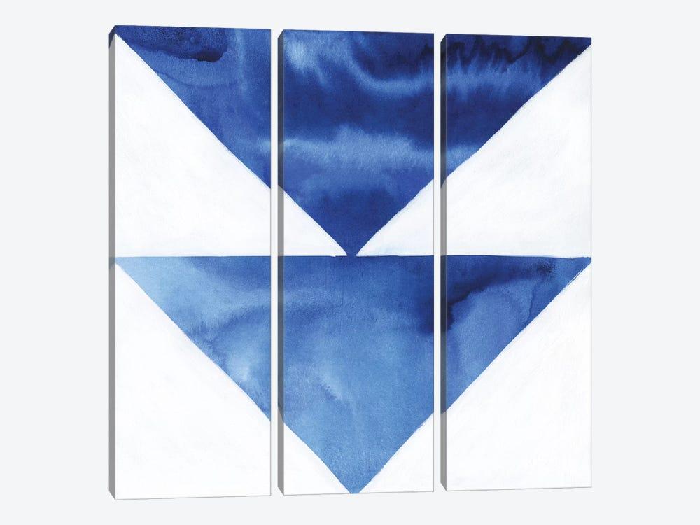 Blue Screen VI by Grace Popp 3-piece Canvas Wall Art