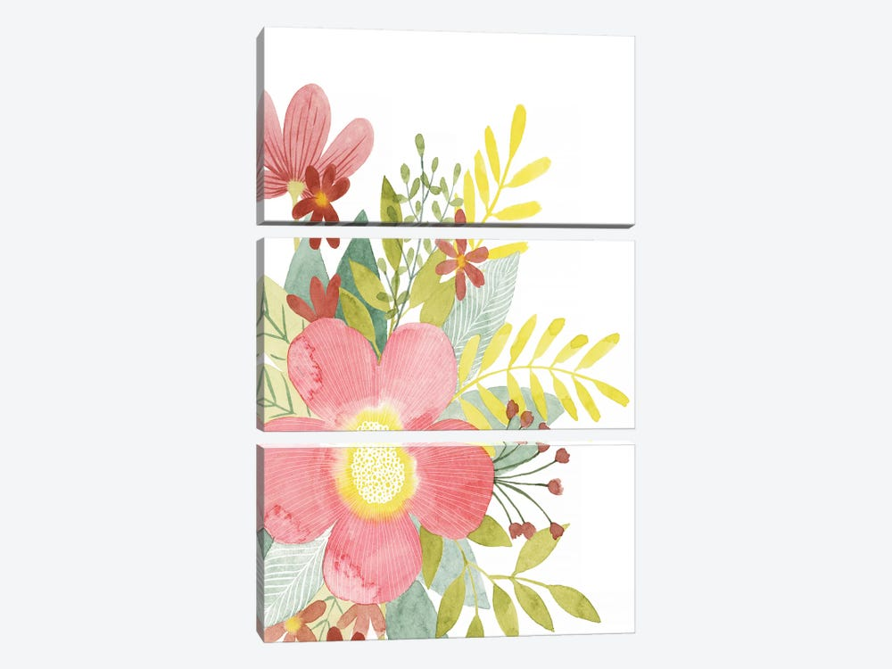 Colossal Florals I by Grace Popp 3-piece Canvas Art