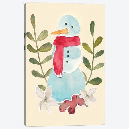 Snowman Cut-Out I Canvas Print #POP113} by Grace Popp Canvas Wall Art