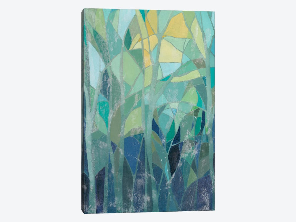 Stained Glass Forest I by Grace Popp 1-piece Canvas Art Print
