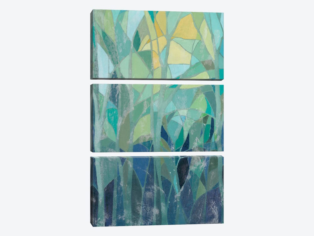 Stained Glass Forest I by Grace Popp 3-piece Art Print