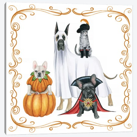 Howloween II Canvas Print #POP1163} by Grace Popp Canvas Artwork