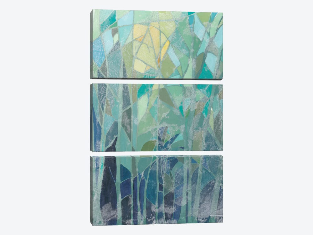 Stained Glass Forest II by Grace Popp 3-piece Canvas Artwork