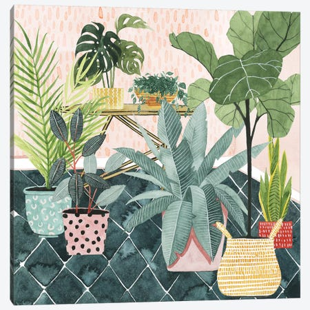 Modern Jungle I Canvas Print #POP1172} by Grace Popp Canvas Art Print