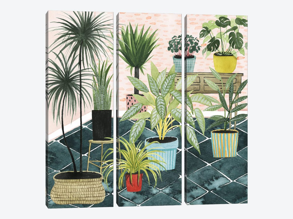 Modern Jungle II by Grace Popp 3-piece Canvas Art