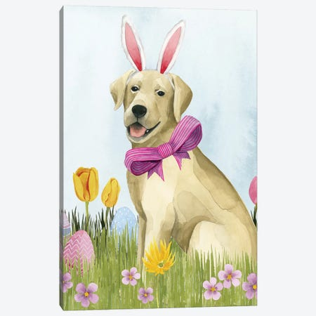 Puppy Easter I Canvas Print #POP1184} by Grace Popp Canvas Print