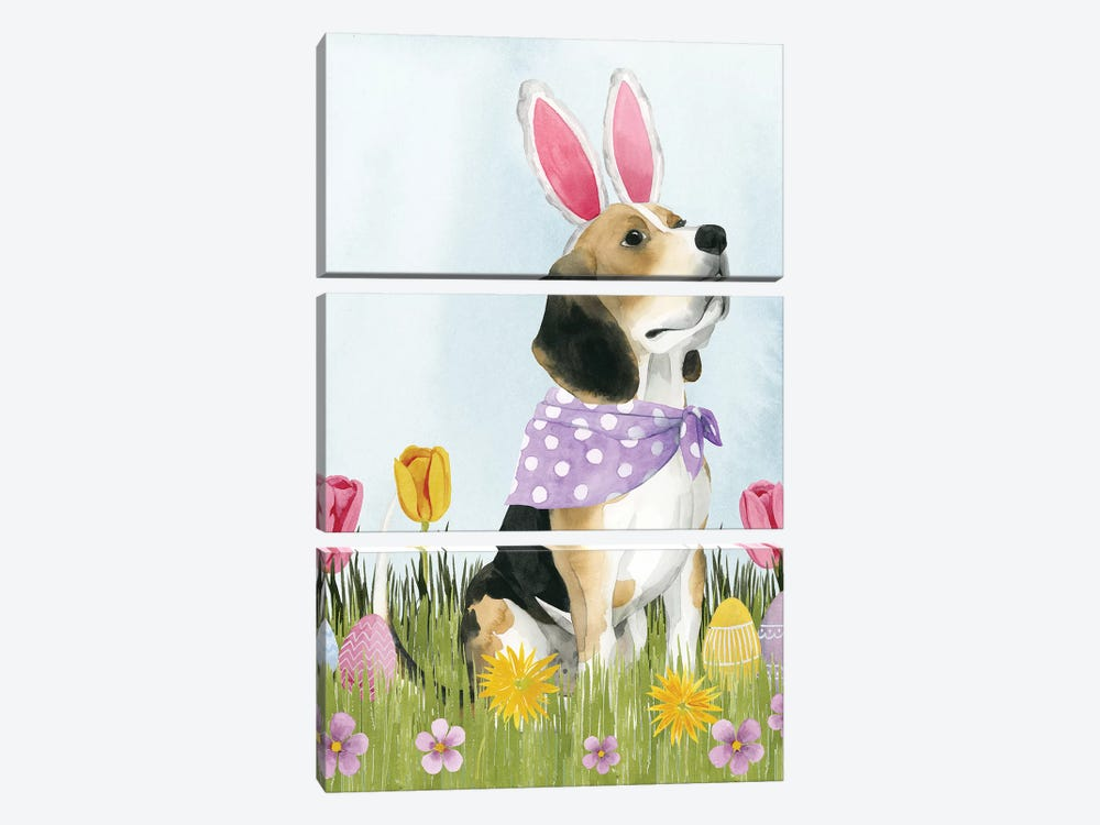 Puppy Easter II by Grace Popp 3-piece Canvas Print