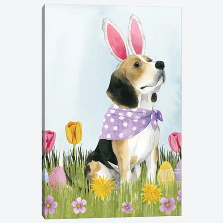 Puppy Easter II Canvas Print #POP1185} by Grace Popp Art Print