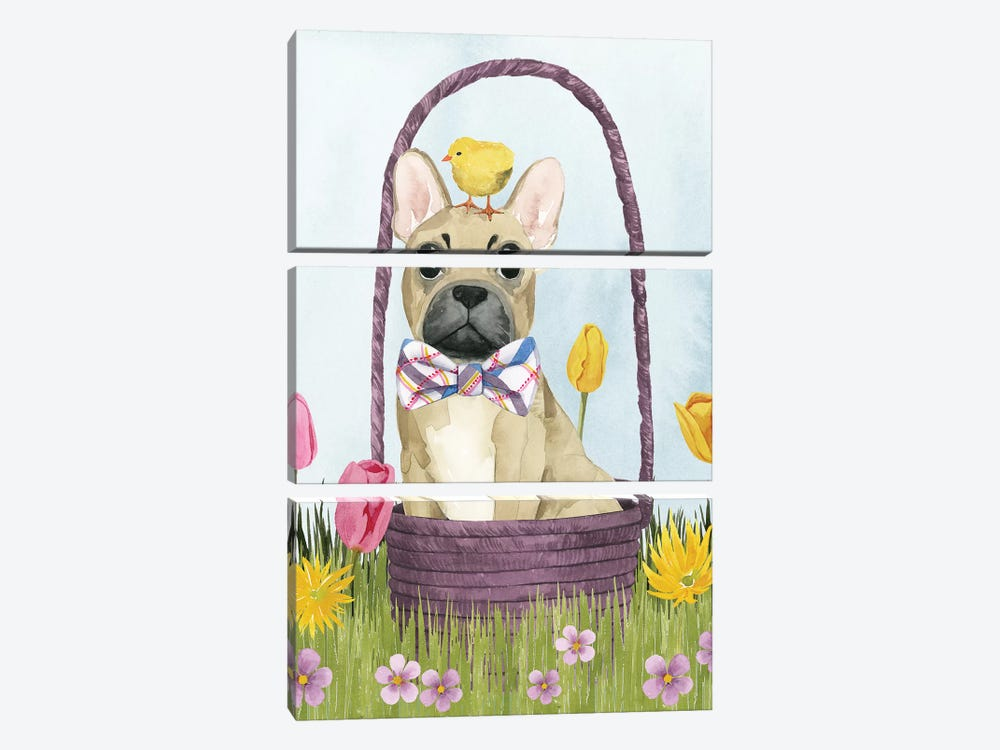 Puppy Easter III by Grace Popp 3-piece Canvas Art