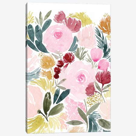 Rose Rays I 3-Piece Canvas #POP1187} by Grace Popp Canvas Print