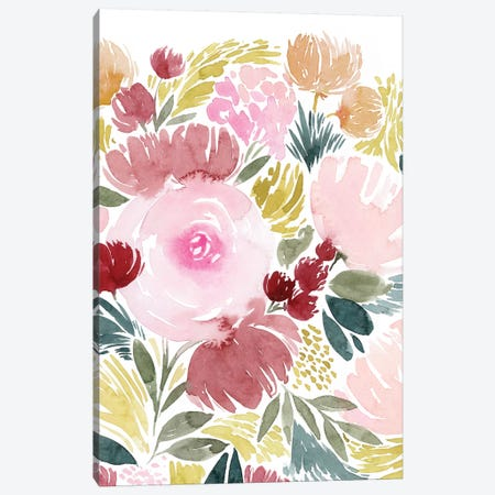 Rose Rays II Canvas Print #POP1188} by Grace Popp Canvas Art