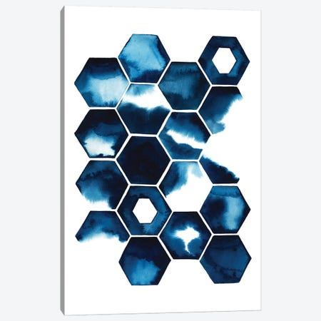 Stormy Geometry II Canvas Print #POP118} by Grace Popp Canvas Wall Art