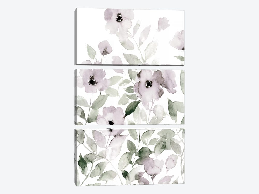 Wild Roses I by Grace Popp 3-piece Canvas Art Print