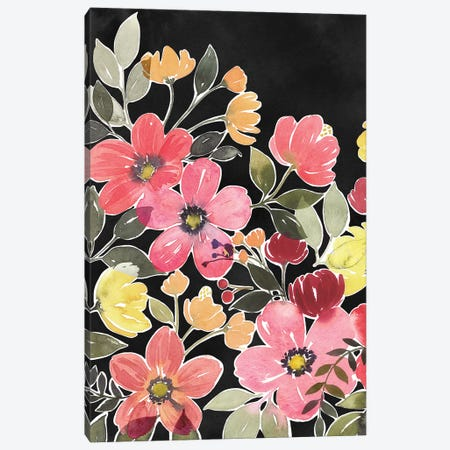 Night Flora II Canvas Print #POP1226} by Grace Popp Canvas Artwork