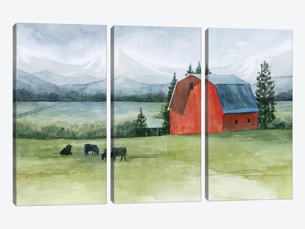 Valley Herd I by Grace Popp 3-piece Canvas Print