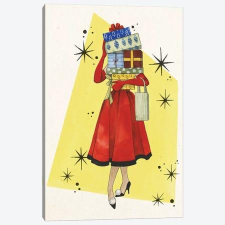 Vintage Christmas I Canvas Print #POP1229} by Grace Popp Canvas Print