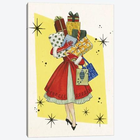 Vintage Christmas II Canvas Print #POP1230} by Grace Popp Canvas Wall Art