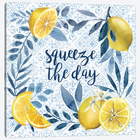 Citrus Sayings II Canvas Print #POP1252} by Grace Popp Canvas Artwork