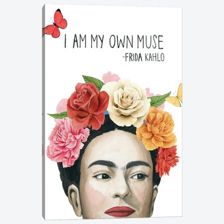 Frida's Flowers I Canvas Print #POP1263} by Grace Popp Canvas Print