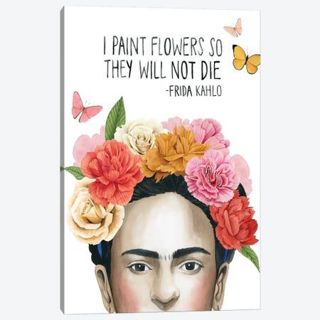 Frida's Flowers II Canvas Print #POP1264} by Grace Popp Canvas Wall Art