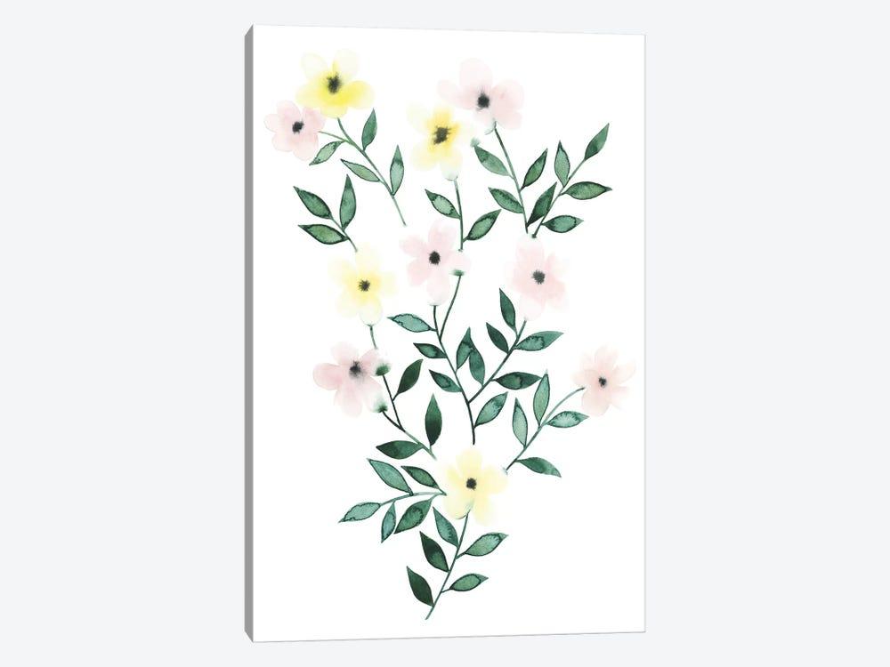 Trellis Flowers I by Grace Popp 1-piece Canvas Wall Art