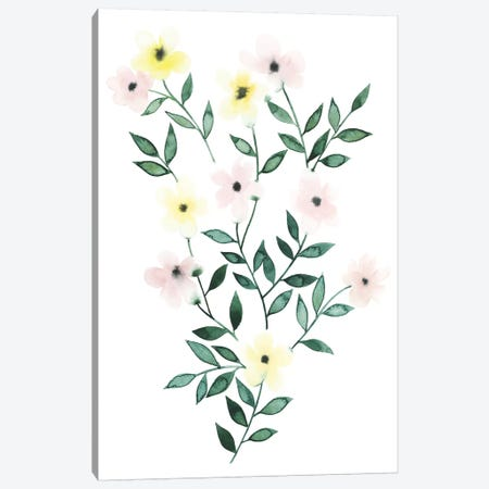 Trellis Flowers I Canvas Print #POP127} by Grace Popp Canvas Art