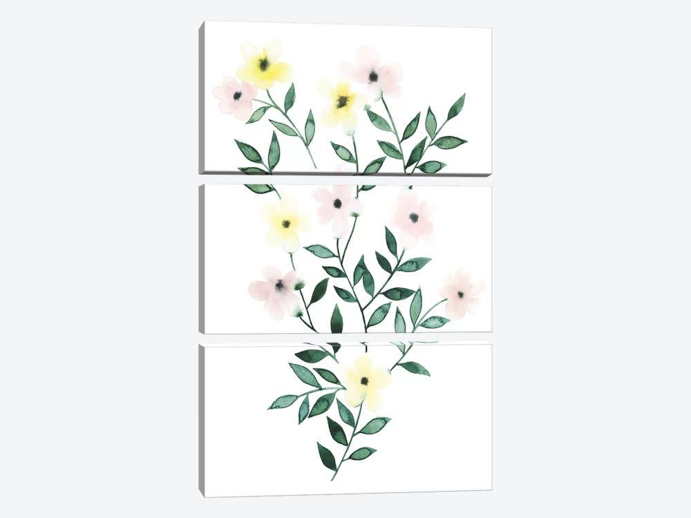 Trellis Flowers I by Grace Popp 3-piece Canvas Wall Art