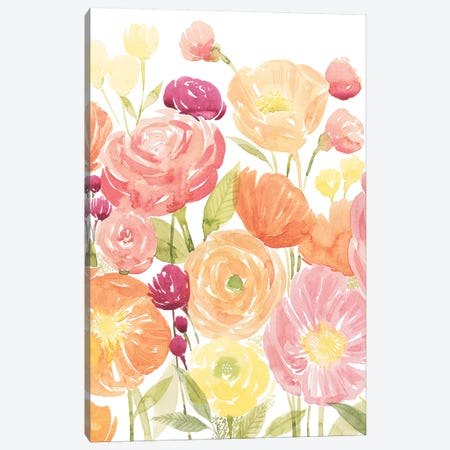 Pastel Petals I Canvas Print #POP1282} by Grace Popp Canvas Print