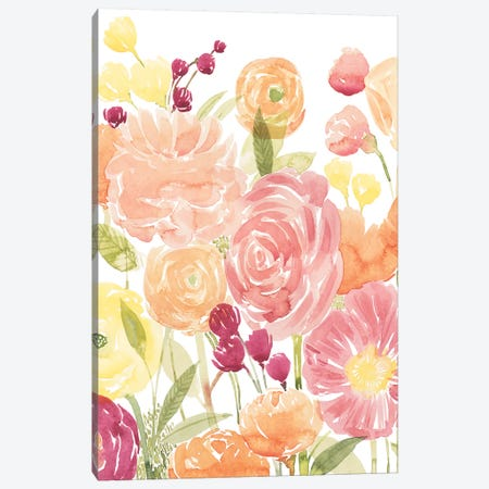 Pastel Petals II Canvas Print #POP1283} by Grace Popp Art Print